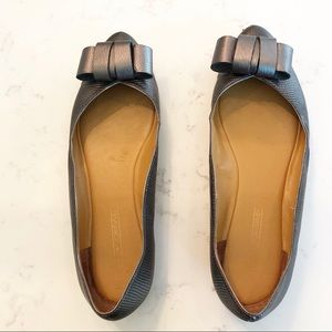 Joan & David Leather Bow Flats • sz 8.5